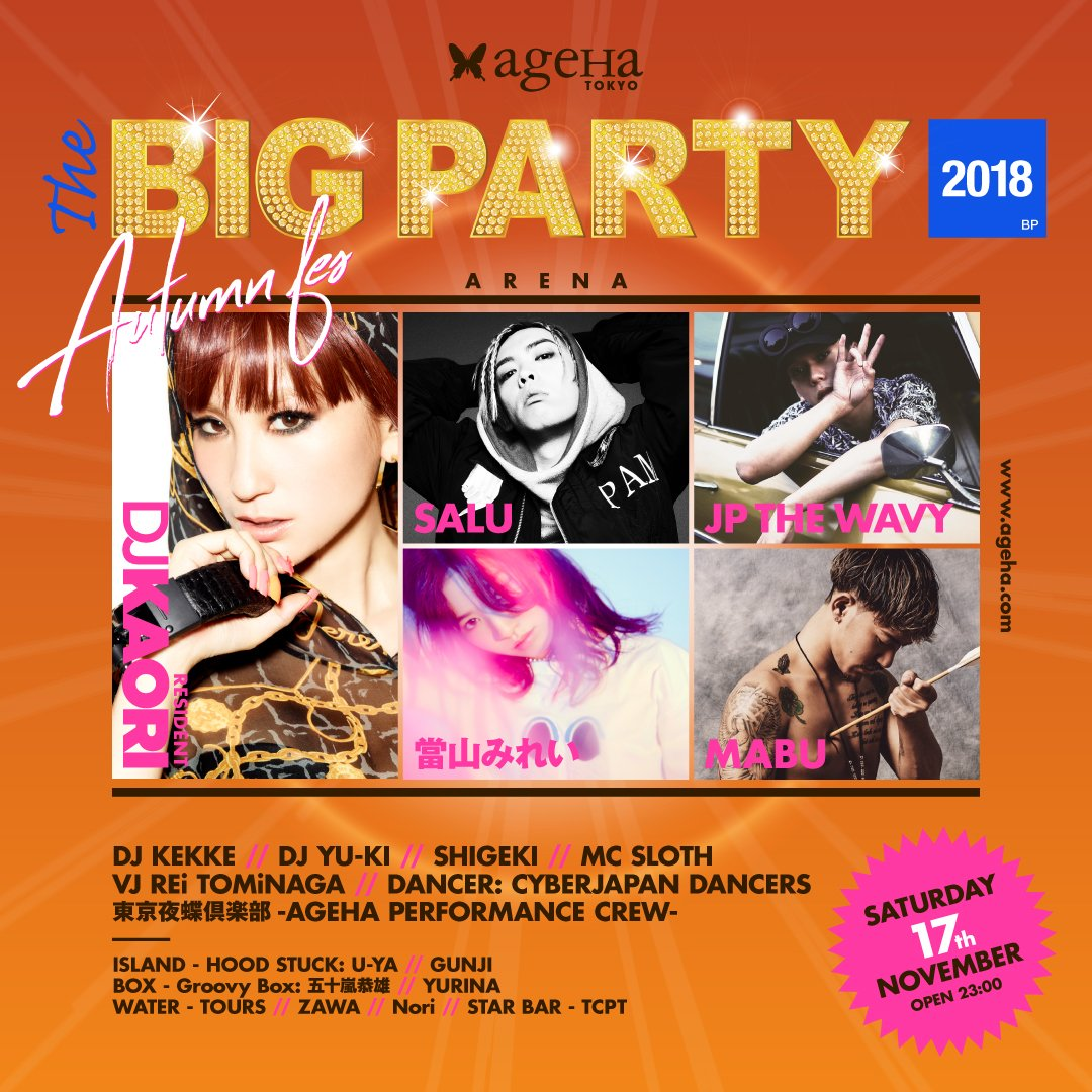 11/17 THE BIG PARTY AGEHA